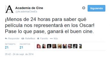 ¿Cuál será la representante española en los Oscar 2015?