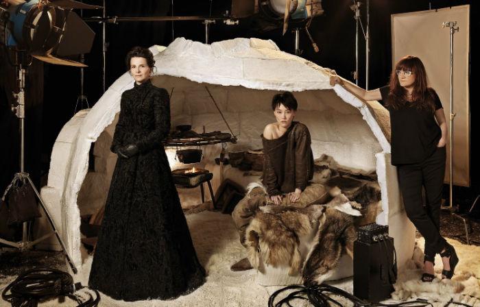 Juliette Binoche, Rinko Kikuchi e Isabel Coixet, en 'Nadie quiere la noche'