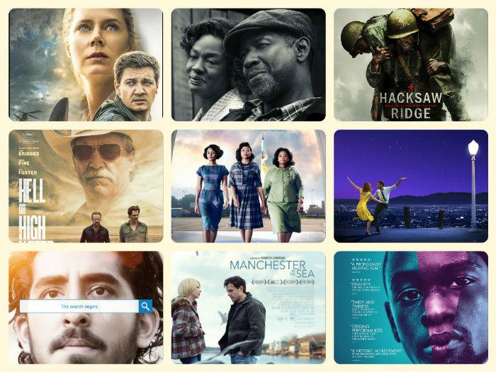 89 Premios Oscar (2017): Nominaciones