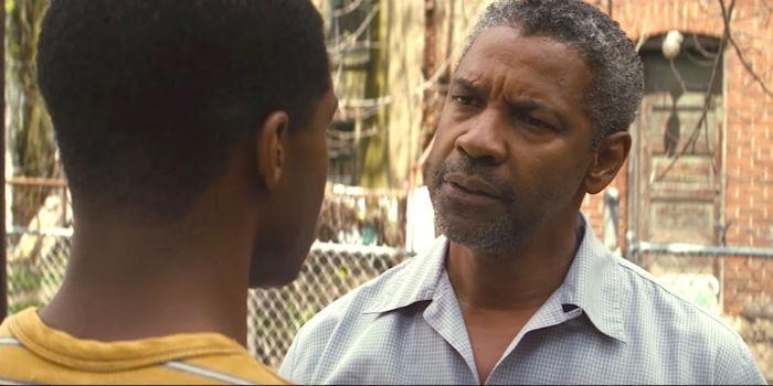 Jovan Adepo, Denzel Washington y Stephen Henderson, en 'Fences', en Histerias de Cine