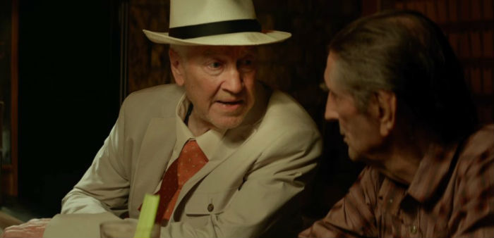 David Lynch y Harry Dean Stanton, en 'Lucky', en Histerias de Cine