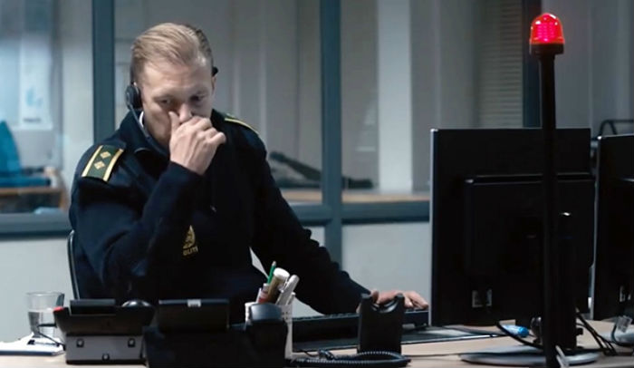 Jakob Cedergren, en 'Den skyldige' (The Guilty), en Histerias de Cine