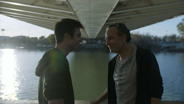 Pol Monen y José Coronado, en 'Tu hijo', en Histerias de Cine